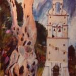 Bell Tower and Olive Tree - Fontana 1993