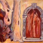 Door and Olive Tree - Arvanitakeika 1993