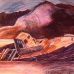 Trawler with Ladhar Bheinn 1990-92