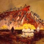 Two Tents and Golden Wattle 2000